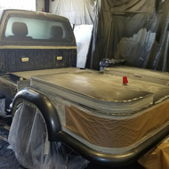 Painting The Bed Liners Of a Truck