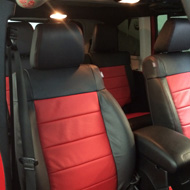 Red Jeep Interior